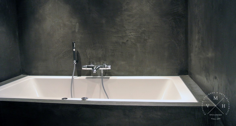 Badkamer Muur Bouwen : Betonlook badkamer uw wanden en muur van betonlook m.v.h.